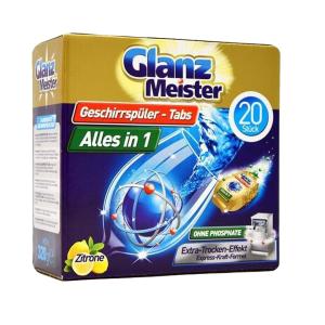 Viên rửa bát Glanz Meister hộp 20 Viên Đức